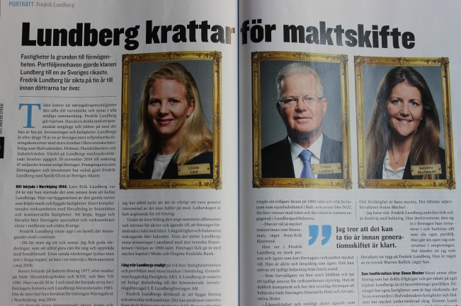 Lundberg krattar